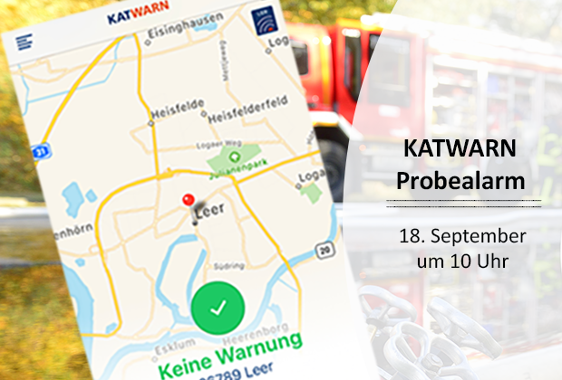 Katwarn Probealarm 18. September 2019